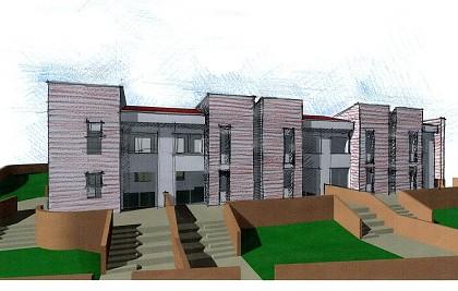 Realização de n. 05 casas geminadas<br /> Municipio de Giano dell'Umbria (PG) <br /> Cliente: empresa de construção civil<br /> Desempenho profissional: projeto arquitetônico preliminar